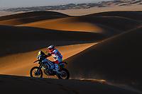 12th January 2020, Riyadh, Saudi Arabia;  08 Goncalvez Paulo (prt), Hero, Hero Motosports Team Rally, Moto, during Stage 7 of the Dakar 2020 between Riyadh and Wadi Al-Dawasir, 741 km - SS 546 km, in Saudi Arabia - Editorial Use