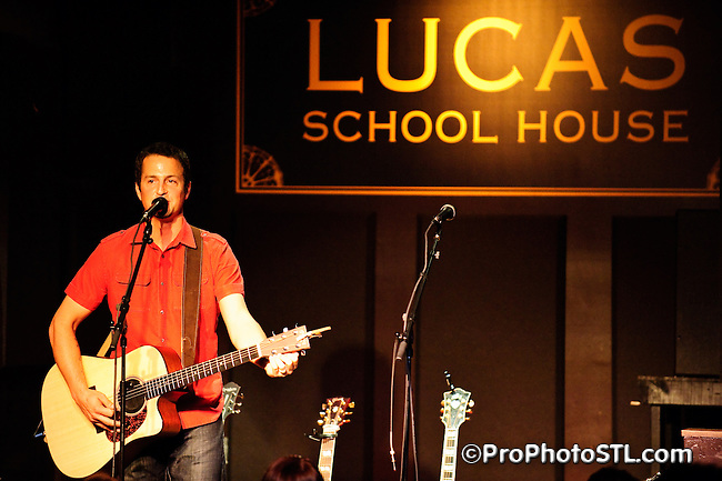 Michael Tolcher performing acoustic rock at Lucas School House in St. Louis on Nov 23, 2008.