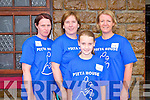 9KM WALK: Maria Smyth, Antoinette O'Sullivan, Emer O'Connor and Eileen O'Connor at the Greg Moynihan memorial 9km walk in aid of Pieta House in Rathmore on Sunday.