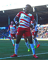 Mallik Wilks of Doncaster Rovers celebrates after scoring the first goal during Portsmouth vs Doncaster Rovers, Sky Bet EFL League 1 Football at Fratton Park on 2nd February 2019