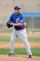 Robert Coello #67 of the Chicago Cubs participates in pitchers fielding practice during spring training workouts at the Cubs complex on February 19, 2011  in Mesa, Arizona. .Photo by Bill Mitch.Photo by Bill Mitchell / Four Seam Images.
