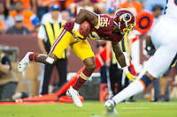 Landover, MD - August 24, 2018: Washington Redskins defensive back Greg Stroman (25) returns the opening kickoff during preseason game between the Denver Broncos and Washington Redskins at FedEx Field in Landover, MD. The Broncos defeat the Redskins 29-17. (Photo by Phillip Peters/Media Images International)