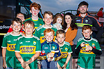 Enjoying the Kerry Supporters Dog Night in the Kingdom Greyhound Track on Friday night.L-r, Tommy Flynn, Carl Mitchels, Cian Courtney Smith, Dylan O'Sullivan, Killian, Hugh and Dara Crean, Darragh Corkery, Orla O'Rourke and Geraldine Crean as the meet Shane Ryan.