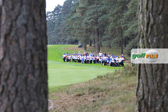 Waiting at the 2nd green during the 2014 JUNIOR RYDER CUP at the Blairgowrie Golf Club, Perthshire, Scotland. Picture:  Thos Caffrey / www.golffile.ie