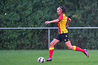 20200819, Sint-Amandsberg , GENT , BELGIUM : Lens's midfielder Marie Hannedouche (11) pictured during a friendly soccer game between KAA Gent ladies and RC Lens ladies in the preparations for the coming season 2020 - 2021 of Belgian Women's SuperLeague and French second division , Wednesday 19 th of August 2020 in JAGO Sint-Amandsberg / Gent, Belgium . PHOTO SPORTPIX.BE | STIJN AUDOOREN