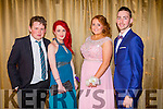 Attending the Castleisland Community College Debs at the Earl of Desmond Hotel on Friday night were  l-r Jonathan Dunleavy, Grainne Hartnett, Rachel O'Connor and Eoin Foran.
