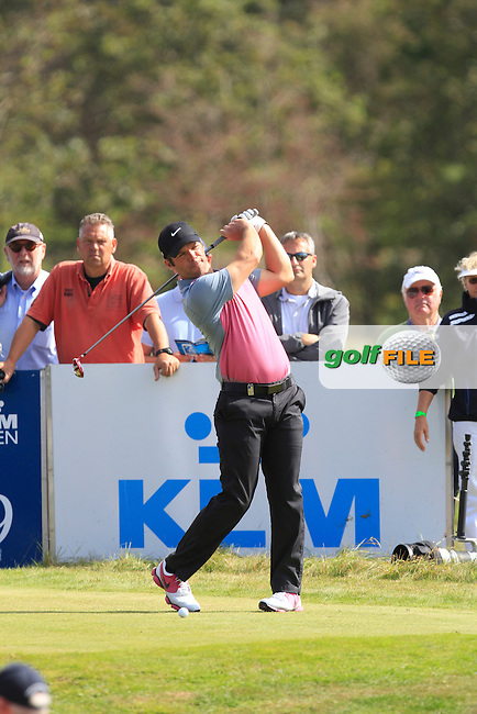 Paul Casey (ENG) on the 9th tee during Round 4 of the KLM Open at Kennemer Golf &amp; Country Club on Sunday 14th September 2014.<br /> Picture:  Thos Caffrey / www.golffile.ie