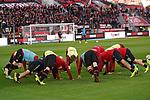 03.11.2018, BayArena, Leverkusen, GER, 1. FBL,  Bayer 04 Leverkusen vs. TSV 1899 Hoffenheim,<br />  <br /> DFL regulations prohibit any use of photographs as image sequences and/or quasi-video<br /> <br /> im Bild / picture shows: <br /> beim Aufwaermen, Einzelaktion,  Leverkusener<br /> Foto &copy; nordphoto / Meuter