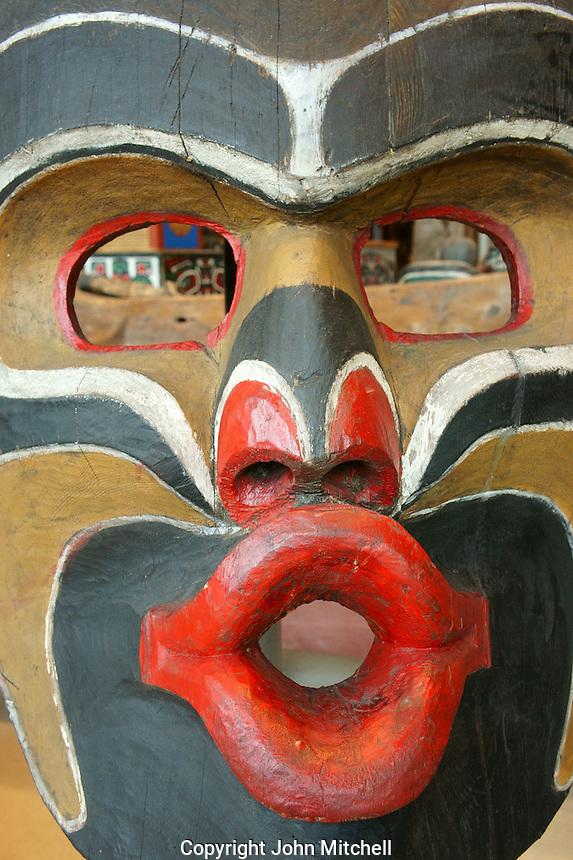 West Coast potlatch feast dish cover, Kwakawaka'wakw people, Museum of Anthropology (MOA), Vancouver, BC, Canada