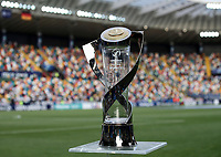 The trophy is seen before the start of the Uefa Under 21 Championship 2019 football final match between Spain and Germany at Udine's Friuli stadium, Italy, June 30, 2019. Spain won 2-1.<br /> UPDATE IMAGES PRESS/Isabella Bonotto