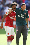 Reiss Nelson of Arsenal and David Ospina of Arsenal after the The FA Community Shield match at Wembley Stadium, London. Picture date 6th August 2017. Picture credit should read: Charlie Forgham-Bailey/Sportimage