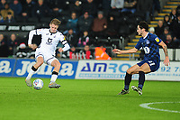 George Byers of Swansea City in action during the Sky Bet Championship match between Swansea City and Blackburn Rovers at the Liberty Stadium in Swansea, Wales, UK. Wednesday 11 December 2019