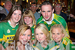 Go on Kerry - Shouting for Kerry in The Kerins O'Rahilly's GAA Club were front l/r Niamh O'Connor, Louise Quill and Fionula Doyle, back l/r Angelina Foley, Niamh O'Callaghan and Kenny Cronin........................................ ............   Copyright Kerry's Eye 2008