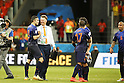(L-R) Robin van Persie, Luis van Gaal (NED), JUN 13, 2014 - Football / Soccer : FIFA World Cup Brasil<br /> match between Spain and Netherlands at the Arena Fonte Nova in Salvador de Bahia, Brasil. (Photo by AFLO) [3604]