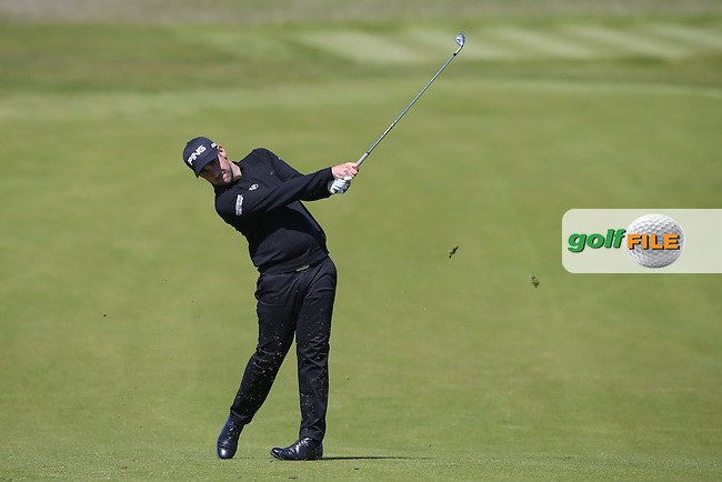 Oliver Farr (WAL) plays second shot to the third during Round Two of the 2015 Nordea Masters at the PGA Sweden National, Bara, Malmo, Sweden. 05/06/2015. Picture David Lloyd | www.golffile.ie