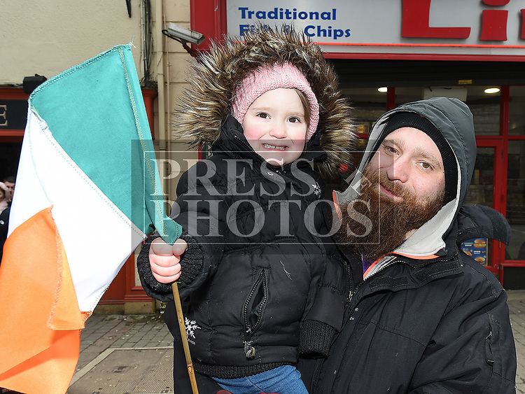 Brynca and Oskar from Iceland at the St. Patrick's day parade in Ardee. Photo:Colin Bell/pressphotos.ie