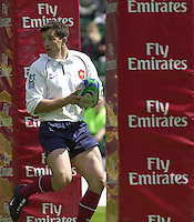 25/05/2002 (Saturday).Sport -Rugby Union - London Sevens.Scotland vs France.Renaud Dulin[Mandatory Credit, Peter Spurier/ Intersport Images].