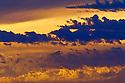 Sunset clouds, east coast, Tasmania