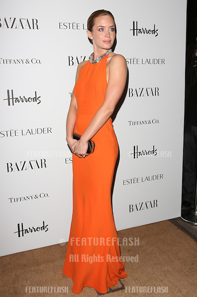 Emily Blunt arriving for the Harper's Bazaar Women of the Year Awards 2012 at Claridge's Hotel, London. 31/10/2012 Picture by: Henry Harris / Featureflash