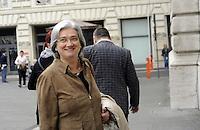 Roma, 13 ottobre 2011.Parlamentari e ministri entrano in Parlamento per l'intervento del presidente silvio Berlusconi.Nella foto:Rosy Bindi