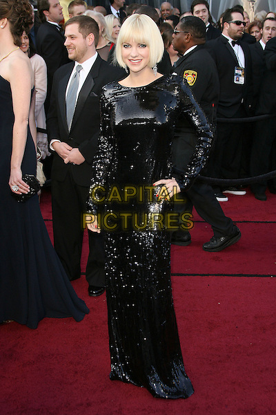 Anna Faris.84th Annual Academy Awards held at the Hollywood & Highland Center, Hollywood, California, USA..February 26th, 2012.oscars full length dress black sequins sequined hand on hip .CAP/ADM.©AdMedia/Capital Pictures.