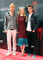 Rhys Ifans, Emma Stone, Andrew Garfield - The Amazing Spider-Man - photocall in Madrid NORTEPHOTO.COM<br />