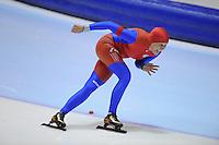 SCHAATSEN: HEERENVEEN: Thialf, 4th Masters International Speed Skating Sprint Games, 25-02-2012, Henriette Goede (F45) 2nd, ©foto: Martin de Jong