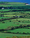 County Kerry, Ireland        <br /> Patterns of green pastures and farms of the Dingle Peninsula