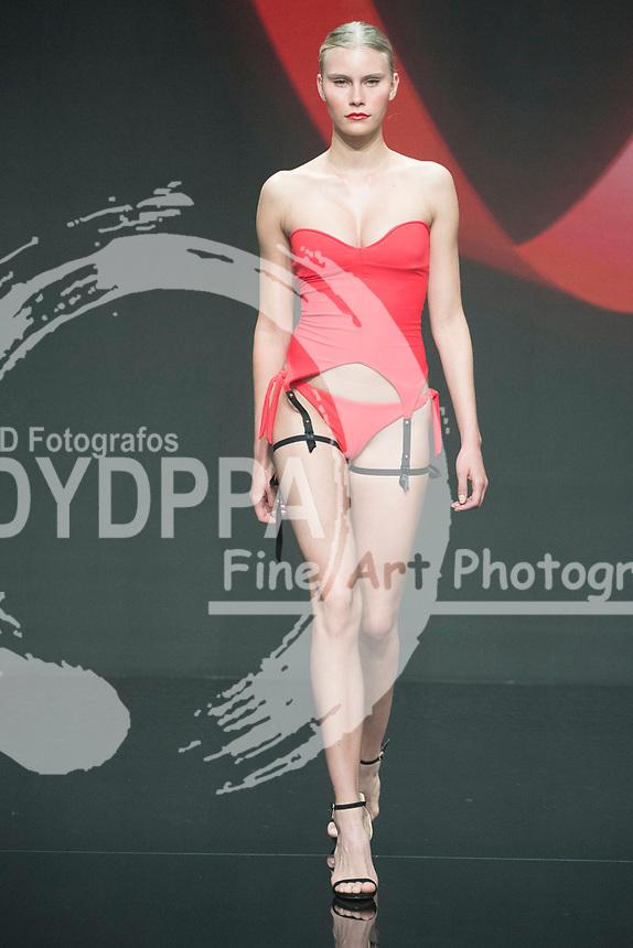 Model Lotta Korkala  poses