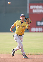 2007: Matt Cavagnaro of the State College Spikes takes infield prior to a game vs. the Batavia Muckdogs in New York-Penn League baseball action.  Photo By Mike Janes/Four Seam Images