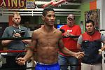 Miguel Marriaga en la sesión de entrenamiento libre que se realizó en el Francisco Meléndez GYM de New York previo a su pelea por título mundial ante el jamaiquino Nicholas Walters.