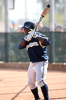 Kentrail Davis, Milwaukee Brewers 2010 minor league spring training..Photo by:  Bill Mitchell/Four Seam Images.