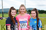 Rachel Cremin, Aoife O'Callaghan and Sarah Nagle 4km road race in aid of the Rathmore Ladies football club on Sunday