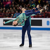 22nd March 2018, Milan, Italy; ISU World Figure Skating Championships Milano 2018;  Nicole della Monica and Matteo Guarise (Ita)