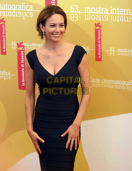 "DIANE LANE.Photocall for ""Hollywoodland"" on the second day of the 63rd Venice Film Festival, Venice, Italy..August 31st, 2006.Ref: OME.half length blue dress .www.capitalpictures.com.sales@capitalpictures.com.©Omega/Capital Pictures."