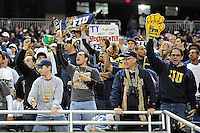 26 December 2010:  FIU fans celebrate a FIU field goal that put FIU up by a touchdown in the fourth quarter as the FIU Golden Panthers defeated the University of Toledo Rockets, 34-32, to win the 2010 Little Caesars Pizza Bowl at Ford Field in Detroit, Michigan.