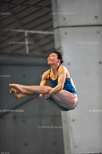 Sayaka Shibusawa (JPN),.APRIL 13, 2012 - Diving : JAPAN Divig 2012 Women's 3m Springboard Final at Tatsumi International Swimming Pool, Tokyo, Japan.(Photo by Jun Tsukida/AFLO SPORT) [0003] .