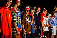 Campers at YMCA Camp Thunderbird work to earn colored bandanas, which are awarded with great presentation during the closing ceremonies of each resident camp session. A long-time camp tradition, bandanas are earned for achieving and mastering skills and knowledge in such areas as arts, sports, fitness, outdoor skills and more. Campers can built upon their points base from year to year in order to achieve higher bandana ranks. Colors include red, blue, silver, gold and double gold. Charlotte-area YMCA resident Camp Thunderbird, operating since 1936, is one of several YMCA camps located in the Carolinas. The 100-acre camp is located about 20 minutes from downtown Charlotte, North Carolina.