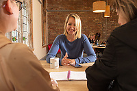 People at work at the 'Withington Works' co-working space at Withington Baths and Leisure Centre, Withington, Manchester on Wednesday 12th June 2019.