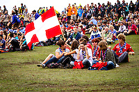 """Swiss enjoying their time before the """"Be a Lighthouse"""" -ceremony. Photo: Mikko Roininen / Scouterna"""