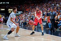 VALENCIA, SPAIN - 16/06/2017. Final Play Off Liga Endesa P4, Pabellon Fuente de San Luis, Valencia, Spain.