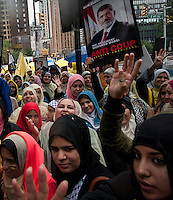 New York City, NY, 25 September 2014 Protest against the Egyptian president Mohamed Morsi  during the 69th United Nations General Assembly at United Nations Headquarters.  Photo by Joana Toro VIEWpress.