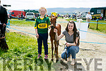 At the Kingdom County Fair in Ballybeggan on Sunday were Abbey Lynch and Joanne Horgan with April
