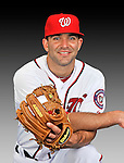 25 February 2011: Washington Nationals' infielder Danny Espinosa poses for his Photo Day portrait at Space Coast Stadium in Viera, Florida. Mandatory Credit: Ed Wolfstein Photo