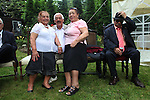 """Auschwitiz Holocaust survivors Mano, Elisebeth, Hugo, Krawcz and Franz Rosenbach. During the Cyganeria restaurant celebration for Roma and Sinti Holocaust survivors and families of victims. After 67th Anniversary commemoration at Auschwitz II Birkenhau. Oswiecim Poland 2011..Roma Holocaust """"Porrajmos"""", the Roma word means literally """"the devouring"""", where it is estimated that between 500 thousand and one and a half million Roma were exterminated across Germany, Poland, ex-Yugoslavia and Czechoslovakia during the 1930s and 1940s. The Roma were the first race to be subjected to experimentation by the Nazis, as part of Joseph Goebbels' 'Final Solution'."""