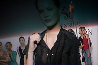 NEW YORK - SEPT 10:  TV monitor backstage at Jennifer Nicholson's fashion show during Olympus Fashion Week on September 9, 2005 in New York City. (Photo by Landon Nordeman/Getty Images)