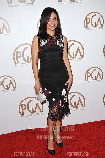 Julia Louis-Dreyfus at the 26th Annual Producers Guild Awards at the Hyatt Regency Century Plaza Hotel.<br /> January 24, 2015  Los Angeles, CA<br /> Picture: Paul Smith / Featureflash