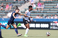 Cary, North Carolina  - Saturday July 01, 2017: Maya Hayes and Samantha Witteman during a regular season National Women's Soccer League (NWSL) match between the North Carolina Courage and the Sky Blue FC at Sahlen's Stadium at WakeMed Soccer Park. Sky Blue FC won the game 1-0.