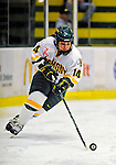 21 February 2009: University of Vermont Catamounts' defenseman Peggy Wakeham, a Sophomore from Bay Roberts, Newfoundland, in action against the University of Maine Black Bears at Gutterson Fieldhouse in Burlington, Vermont. The Catamounts shut out the Black Bears 1-0. Mandatory Photo Credit: Ed Wolfstein Photo