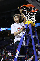 31 March 2008: Cissy Pierce during Stanford's 98-87 win over the University of Maryland in the elite eight game of the NCAA Division 1 Women's Basketball Championship in Spokane, WA.